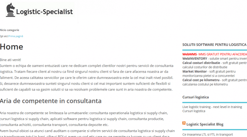 servicii de consultanta logistica